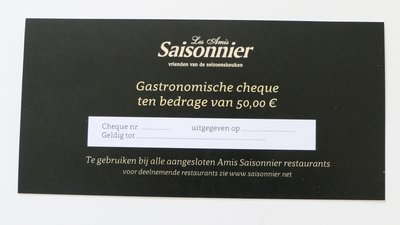 Culinaire Cheque 50 euro