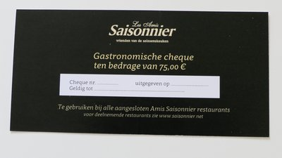 Culinaire Cheque 75 euro