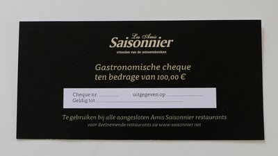 Culinaire Cheque 100 euro
